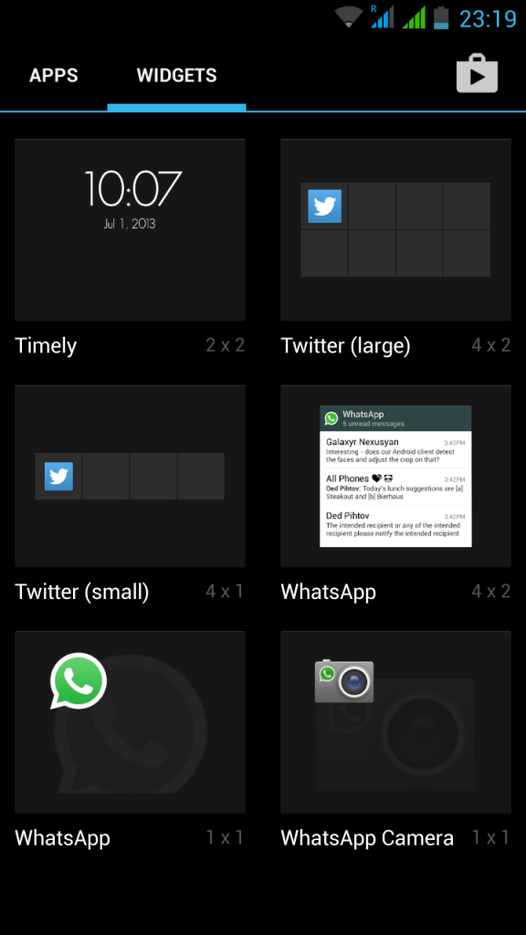 Select whatsapp widget